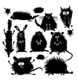 Funny stylized animals collection Sketch for your vector image