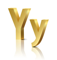 Golden letter Y vector image