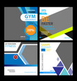 gym banner template vector image vector image