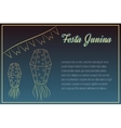 Hand drawin Festa Junina elements on night time vector image vector image