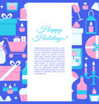 happy holidays concept banner in flat style vector image vector image