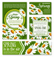 hello spring springtime holiday banner template vector image vector image