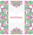 invitational abstract mandala vector image vector image