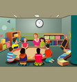 kids in preschool vector image