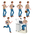 man different poses cute man vector image vector image