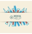 Medicine flat icons set concept vector image vector image