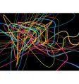 neon lines vector image vector image