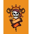 pirate emblem vector image vector image