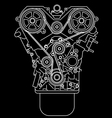 racing engine front view vector image