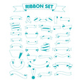 Ribbon set on a white vector image vector image
