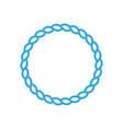 round marine rope frame for photo or text vintage vector image vector image