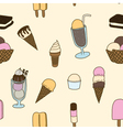 Seamless of icecream vector image vector image