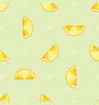 seamless pattern of lemon slices vector image vector image