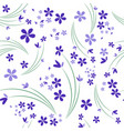 seamless pattern wild violets on white vector image vector image