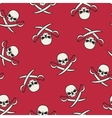 Seamless texture with skulls and pirate swords vector image vector image