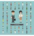 set 50 professions vector image