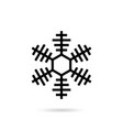 snowflake flat icon isolated vector image vector image