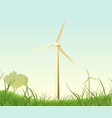 spring and summer windmills poster vector image