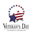 stars with usa flag for veterans day vector image vector image