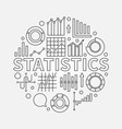 statistics outline vector image vector image