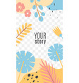stories with tropical leaves exotic flat vector image