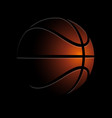 stylized shaded basketball in dark vector image vector image