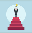 successful businessman on top of the stairs vector image vector image