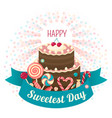 sweetest day concept background flat style vector image