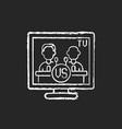televised debates chalk white icon on black vector image