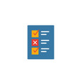 testing icon simple flat element from design ui vector image vector image