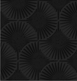 Textured black plastic shapes with rays vector image vector image