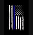 thin blue line american flag t shirt design