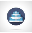 Tiered fountain flat color round icon vector image vector image