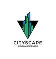 triangle apartment agency logo designconstruction vector image vector image