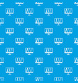 tv pattern seamless blue vector image vector image