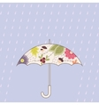 Umbrella and rain vintage vector image