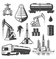 Vintage Extraction Oil Elements Set vector image vector image