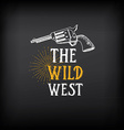 Wild west badges design Vintage western elements vector image