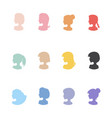 woman girl icons female profile outline symbols vector image