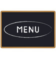 word menu chalk written on a blackboard vector image vector image
