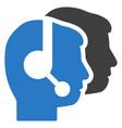 call center flat icon vector image