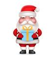 gift box present cute 3d realistic cartoon santa vector image