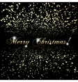 abstract Merry Christmas or New Year golden vector image
