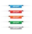 50 percent off paper tag labels vector image vector image
