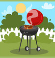 a barbecue party poster design vector image vector image