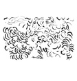 Abstract brush traces vector image vector image