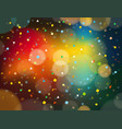 abstract colorful background with confetti and vector image vector image