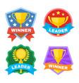 achievement champ and contest logo set