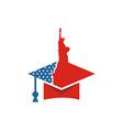 America USA logo Liberty icon vector image vector image