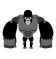 Angry gorilla on its hind legs Aggressive Monkey vector image